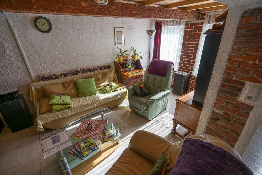 ferienhaus nordsee hund toenning wohnzimmer