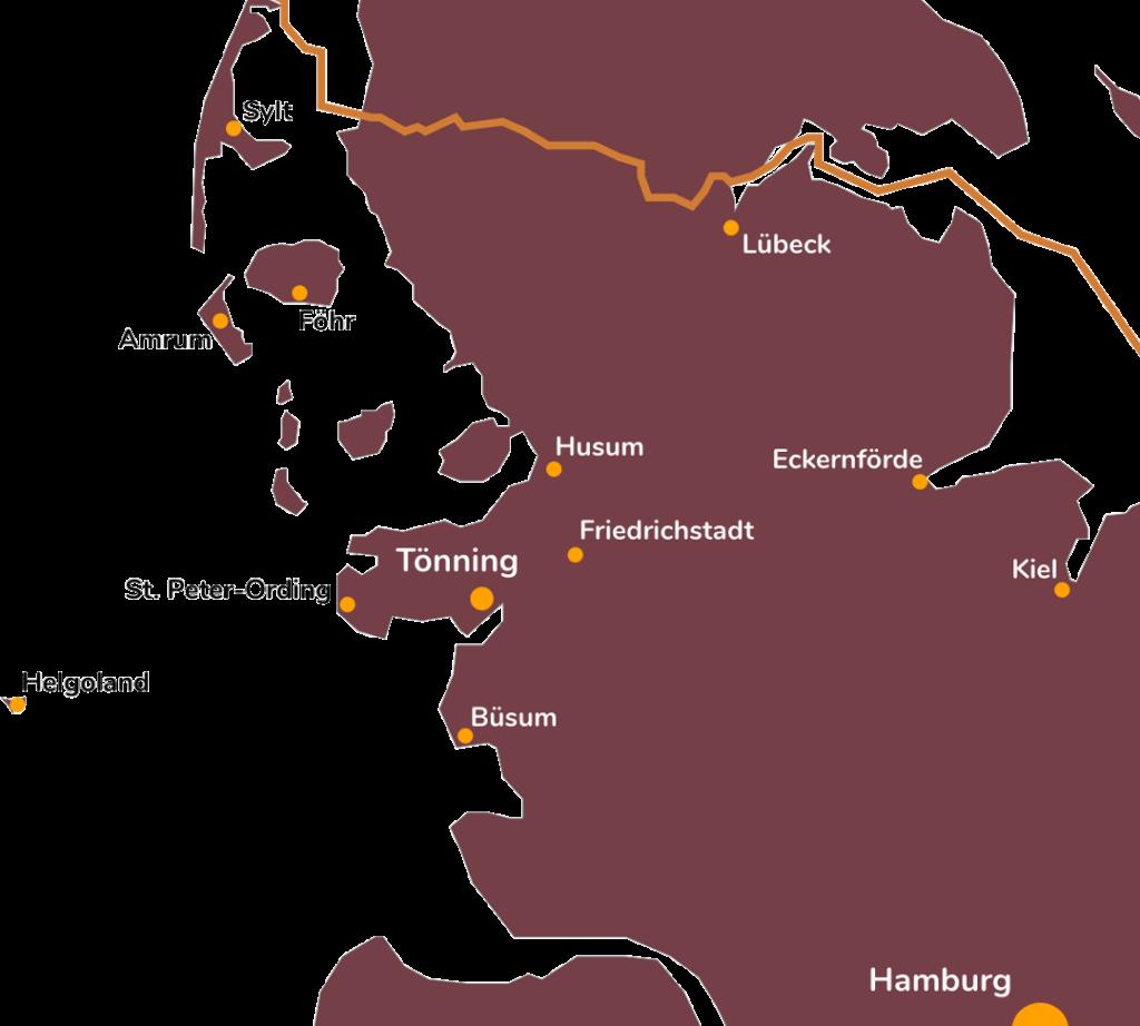 ferienhaus tonning landkarte